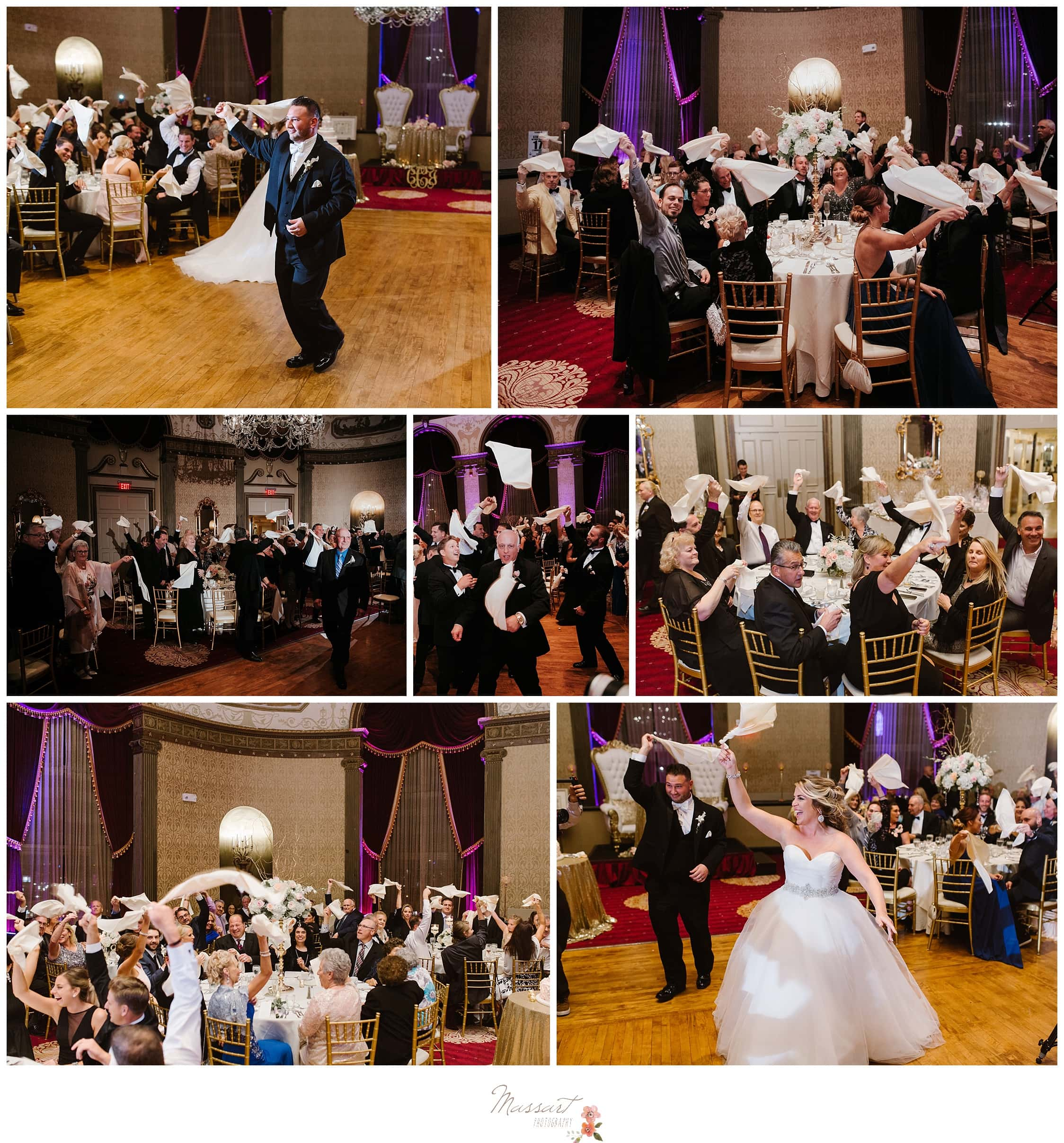 Guests dance at the Biltmore wedding photographed by Massart Photography Rhode Island
