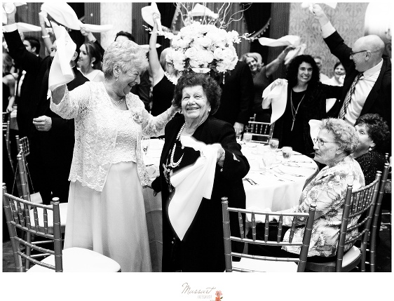 Grandparents having fun at the wedding reception photographed by Massart Photography RI