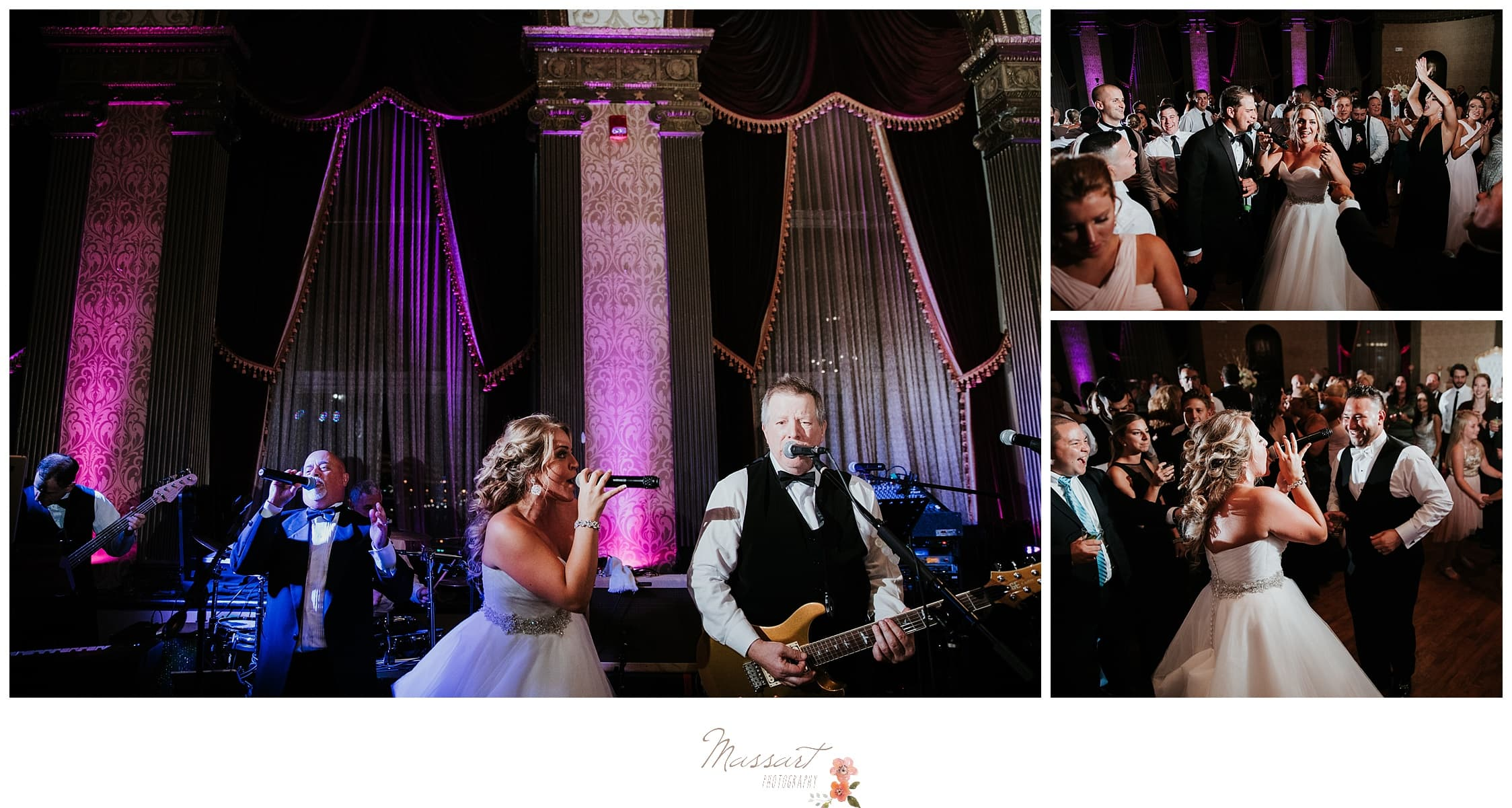 Bride sings with her band during Biltmore wedding reception photographed by Massart Photography RI