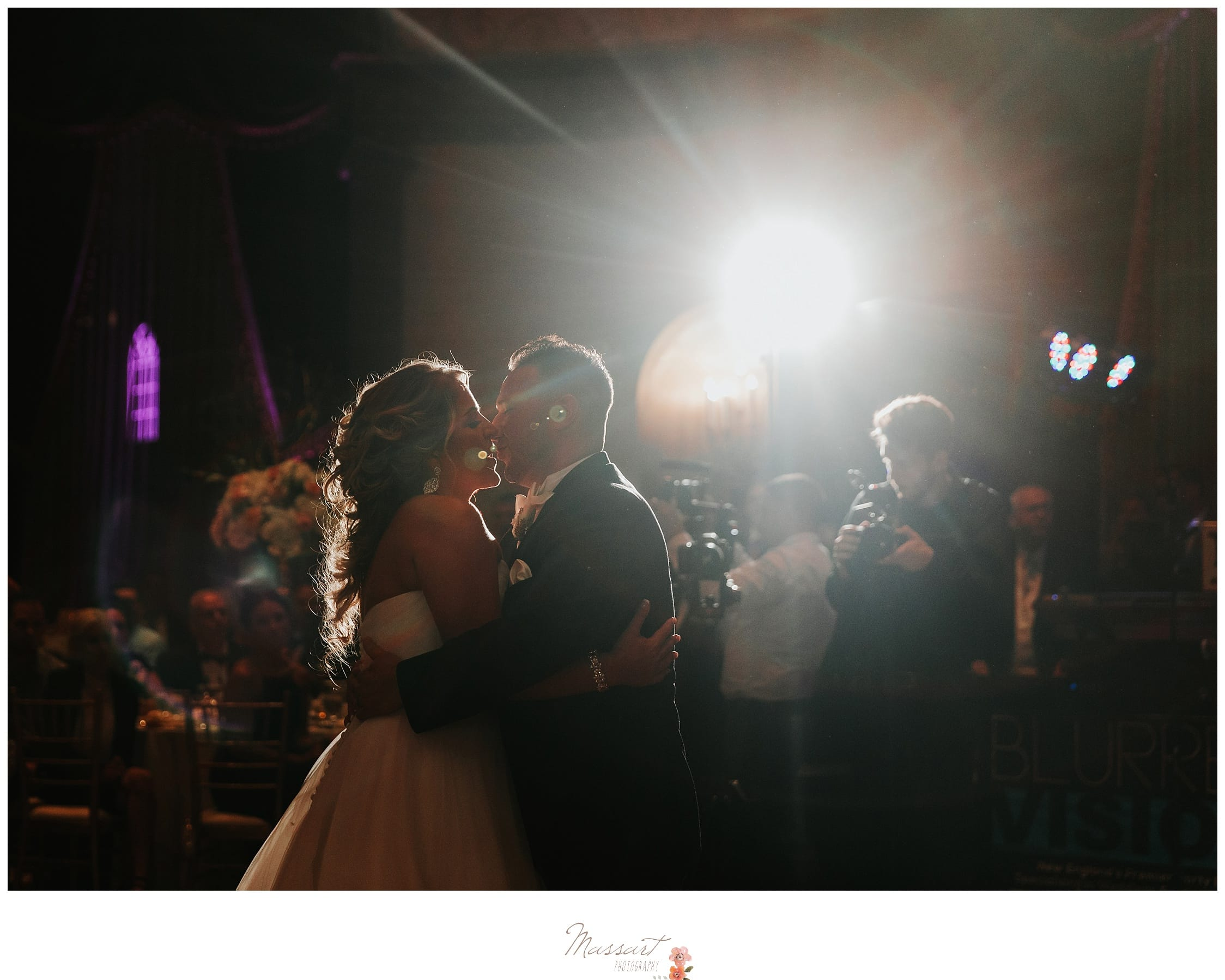 Husband and wife dance during their Biltmore wedding reception photographed by Massart Photography RI