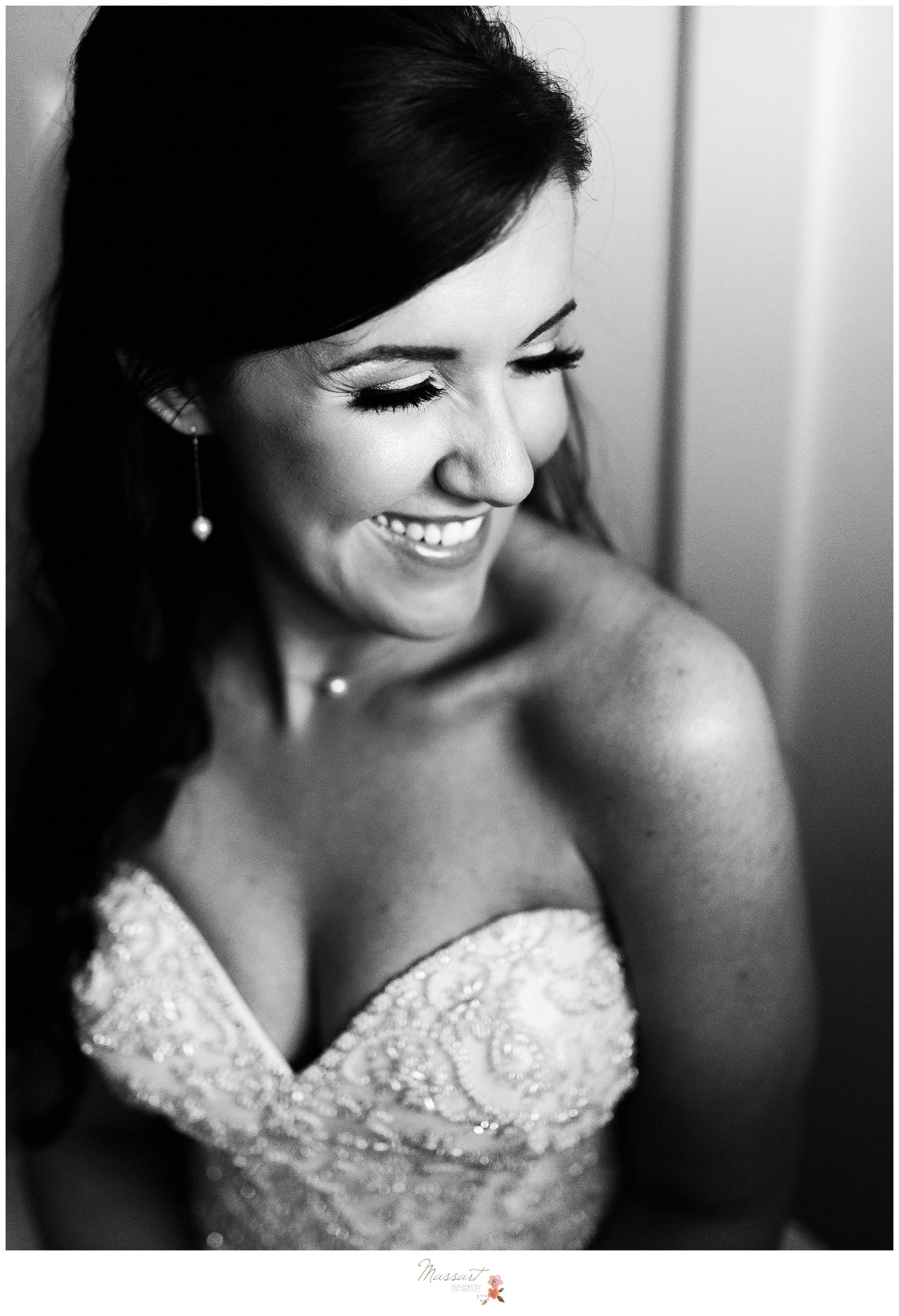 Formal portrait of the bride photographed by Massart Photography RI