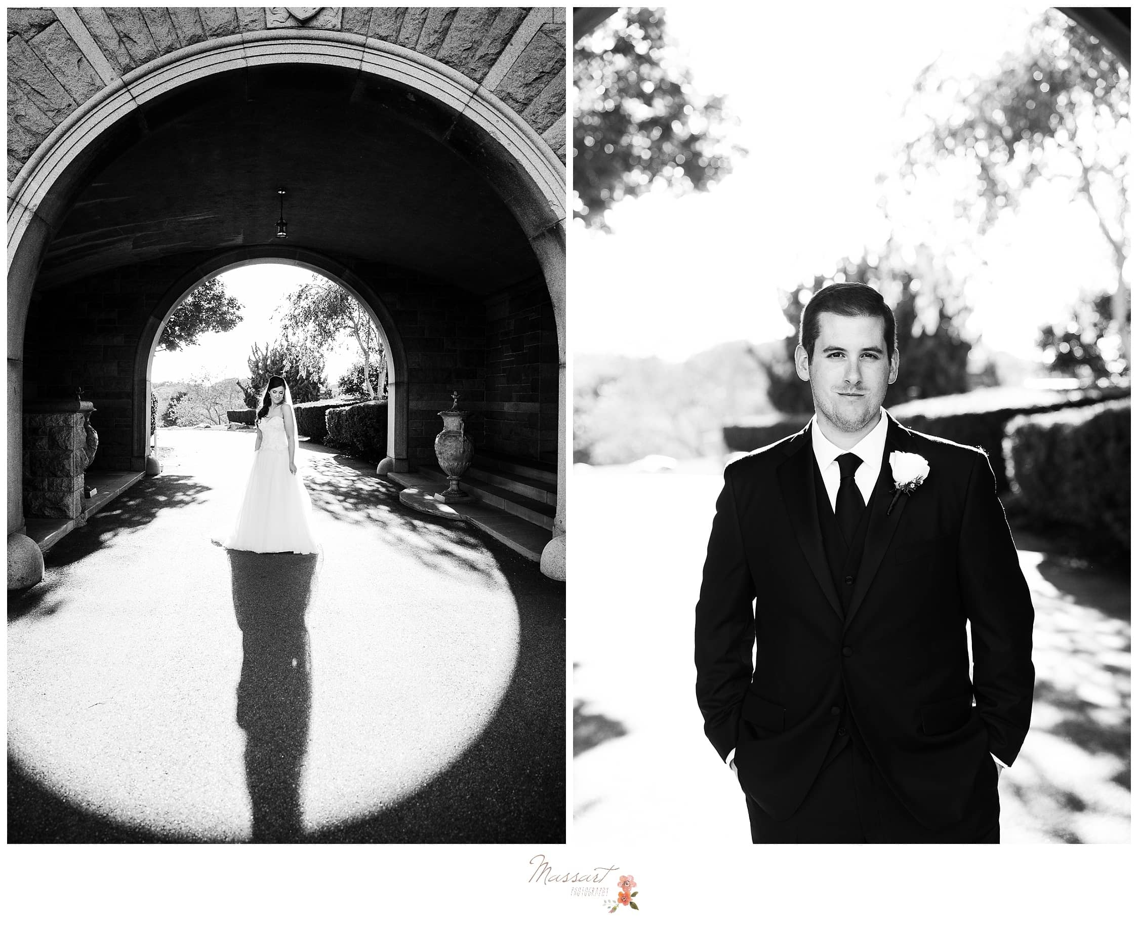 Bride and groom formal portraits photographed by Massart Photography RI