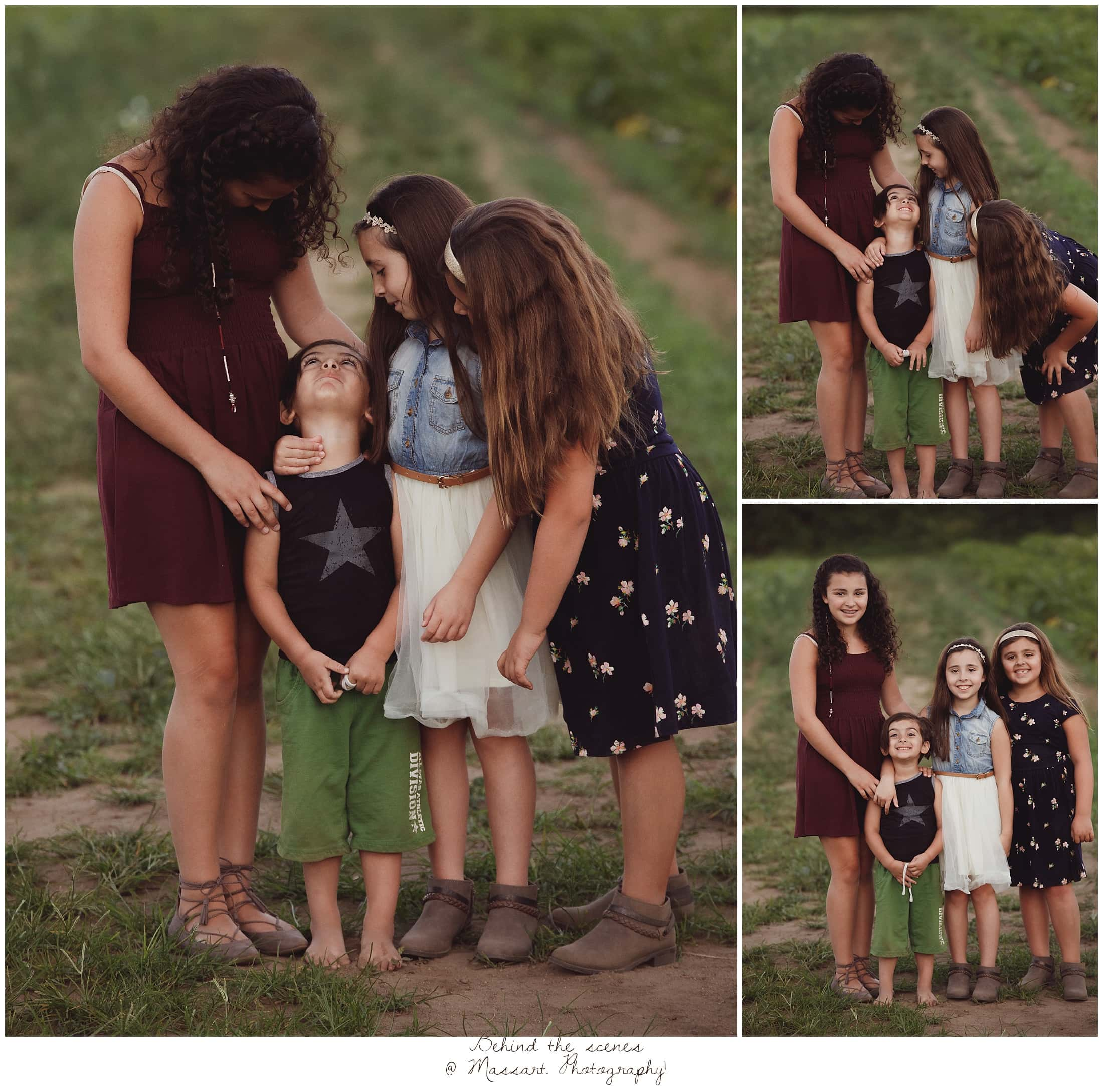 Outdoor portraits of the sisters and their friend captured by Massart Photography Rhode Island
