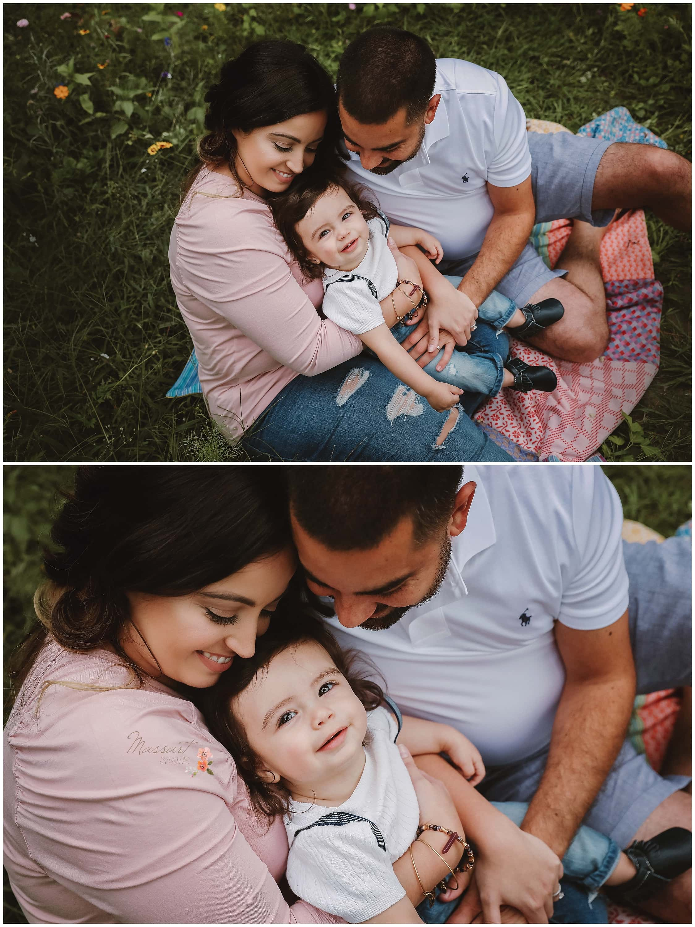 Parents show their baby boy some love in celebration of his first birthday photographed by Massart Photography RI