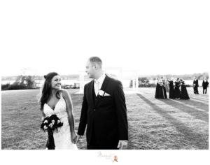 Black and white portraits of the bride and groom before the wedding ceremony captured by Massart Photography Rhode Island