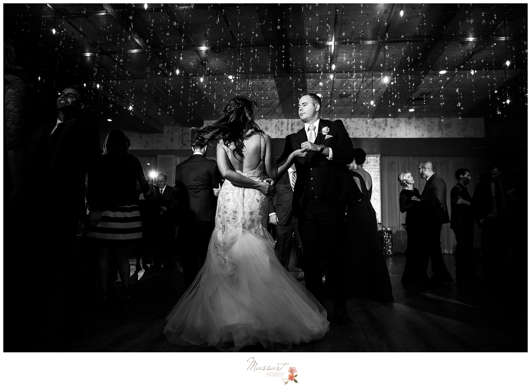 The bride and groom having fun during their first dance as husband and wife photographed by Massart Photography RI