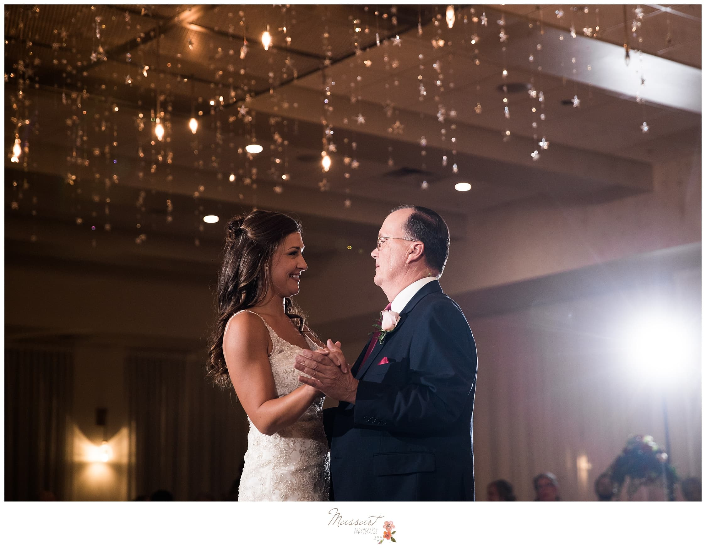 Father and daughter dance at the Atlantic Resort wedding photographed by Massart Photography Rhode Island