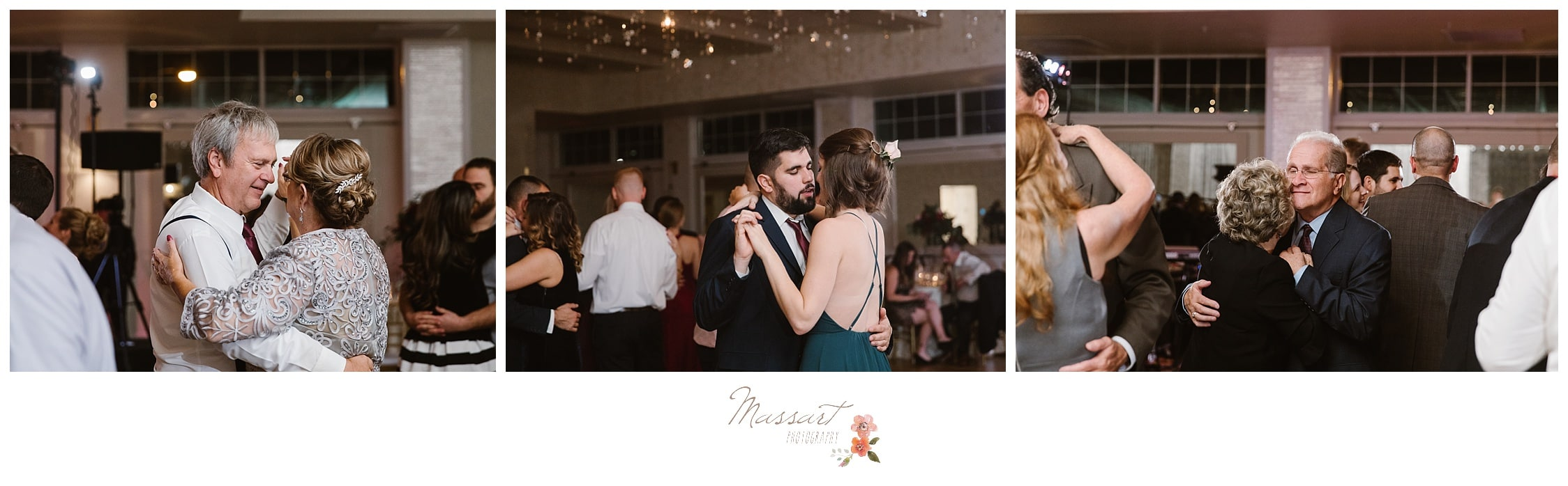 Couples dance together during the wedding reception photographed by Massart Photography RI