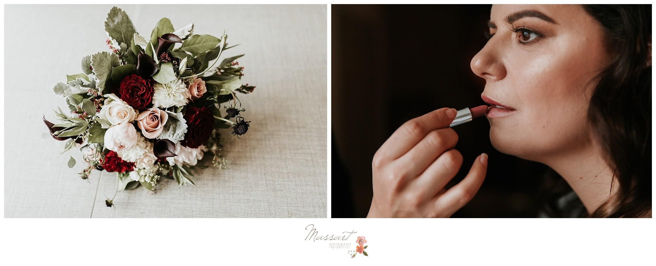 Wedding flowers at the atlantic resort in RI captured by massart photographers
