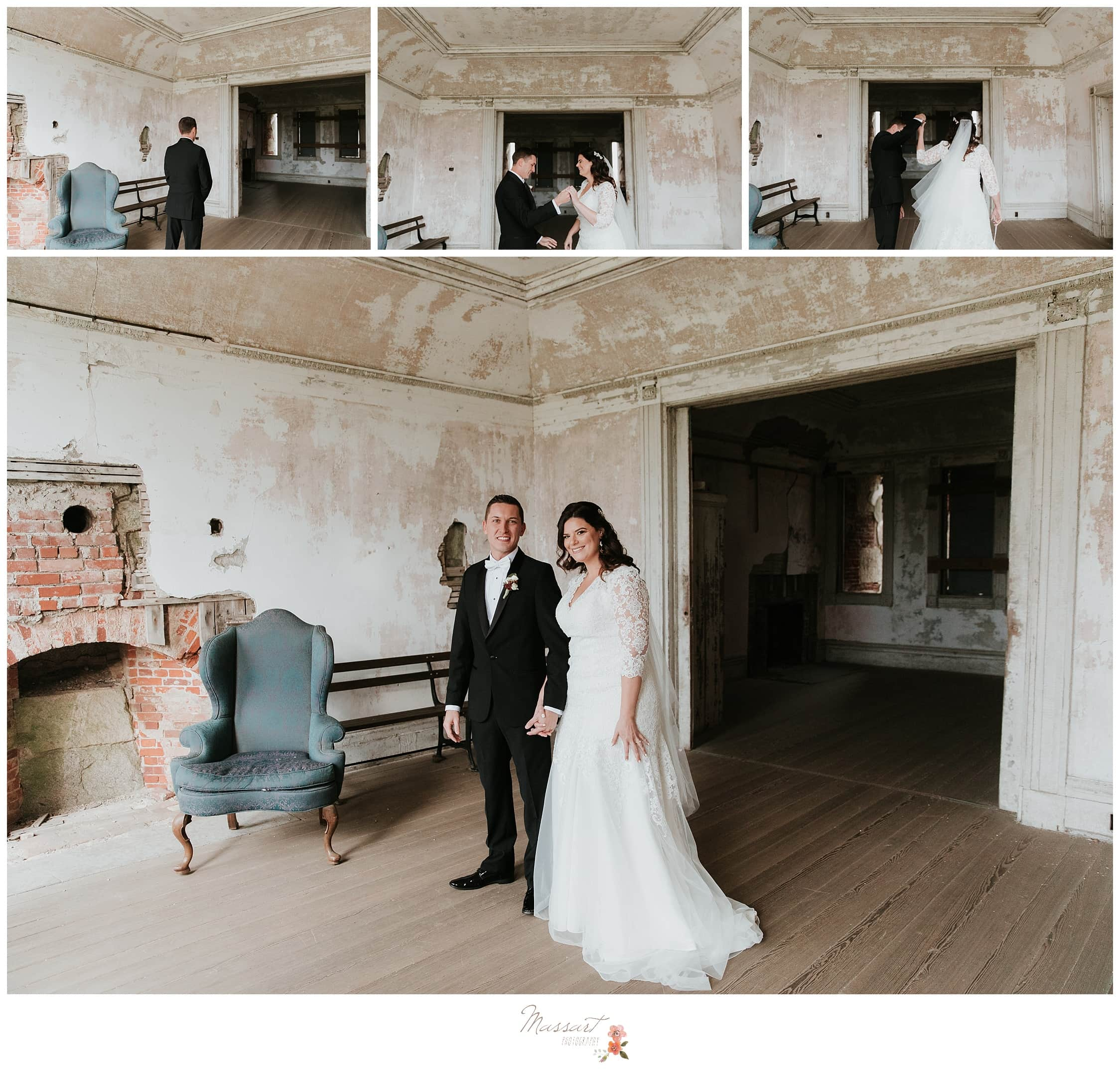 The ruins at fort adams are perfect for wedding photos in newport, rhode island