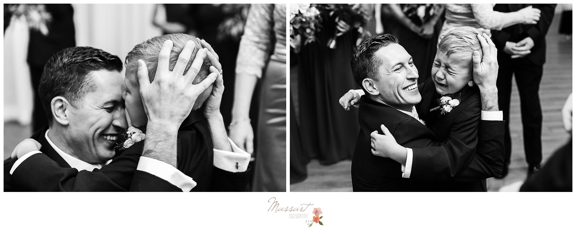 groom and son share touching moment at the atlantic resort in newport, RI