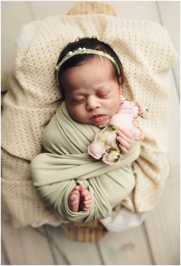 Newborn image captured during a studio photography session with Massart Photographers who serve RI, CT and MA