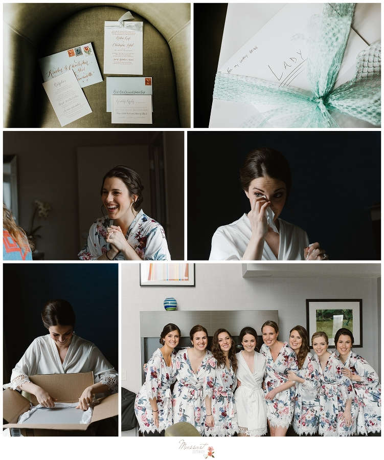 wedding pictures of the bride and bridesmaids and wedding details by Massart Photography Rhode Island, Massachusetts, Connecticut at Royal Sonesta Boston