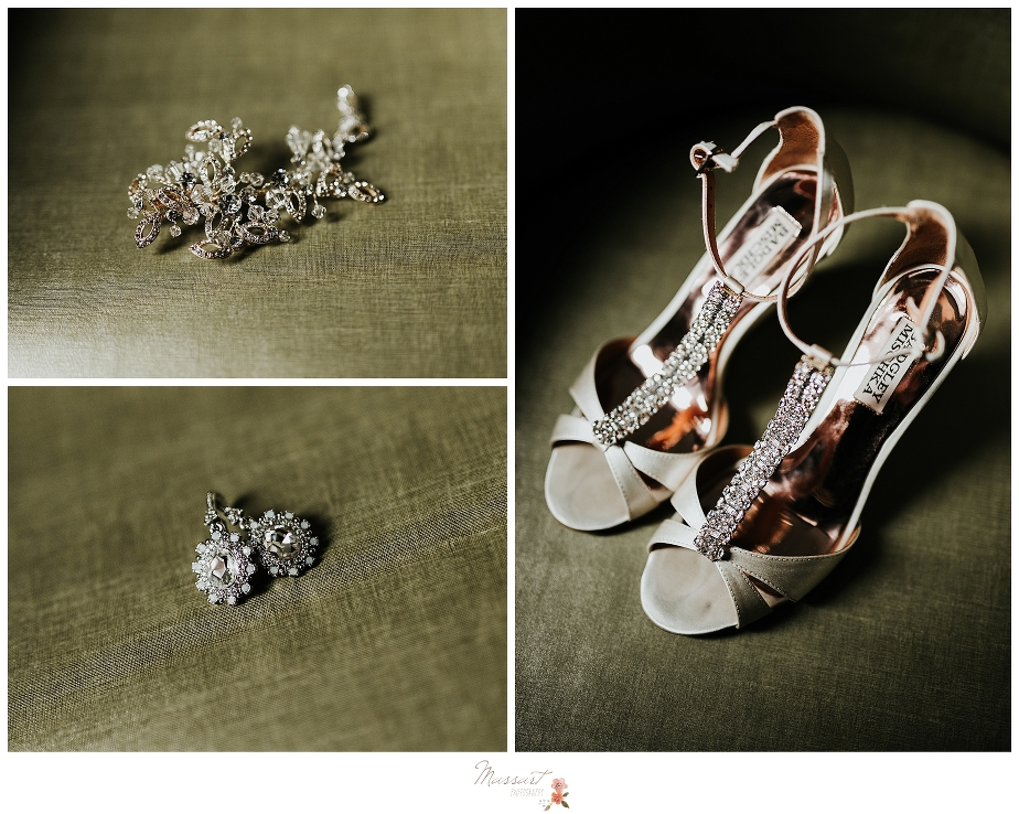 wedding images of the bride's shoes by Massart Photography RI, CT, MA at Royal Sonesta Boston