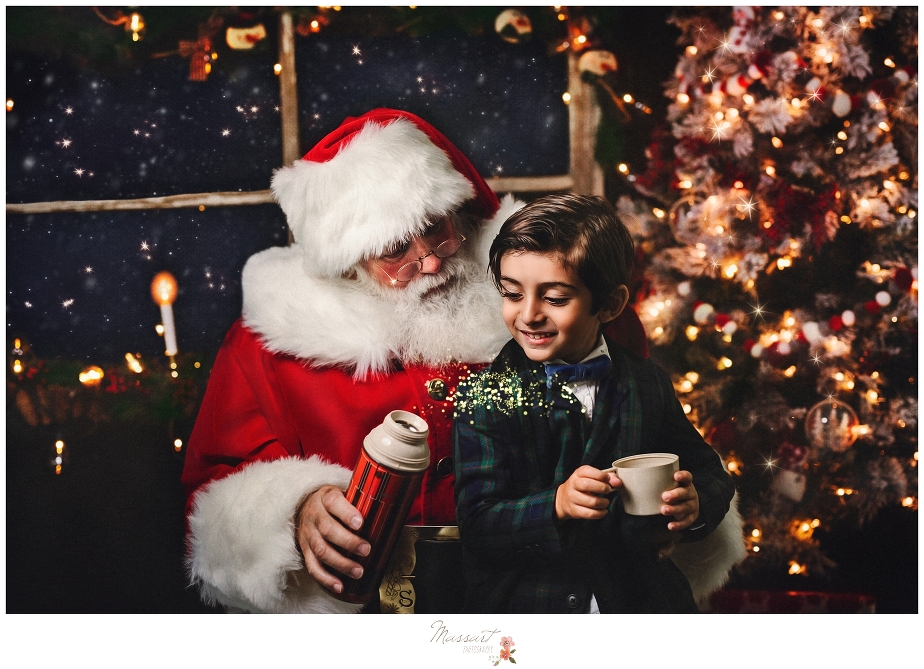 Santa mini sessions at massart photography studio in warwick, rhode island