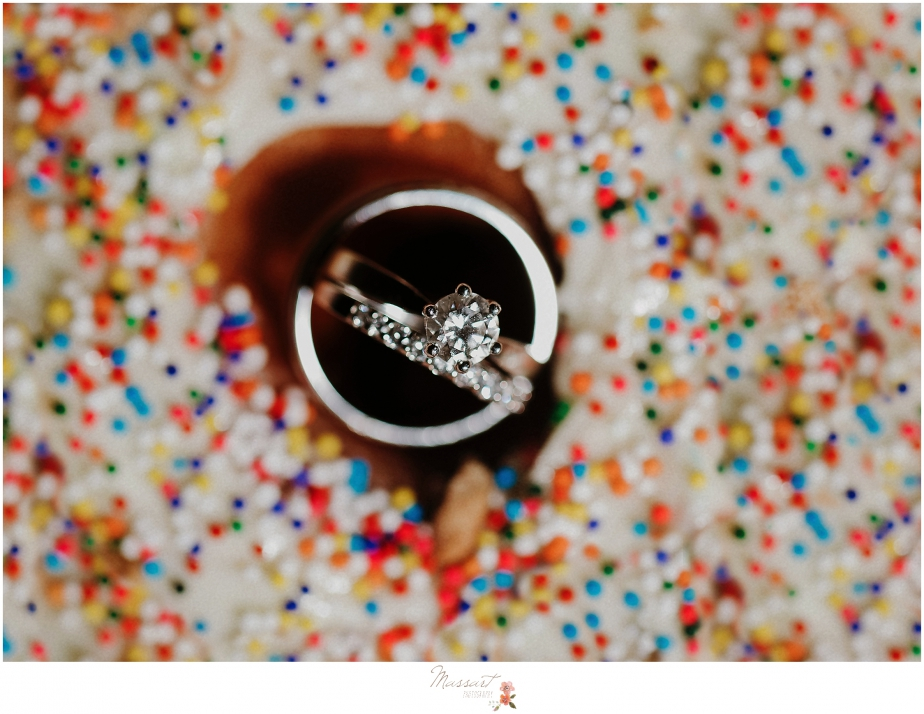 stunning diamond ring photographed by RI, MA, CT wedding photographers Massart Photography