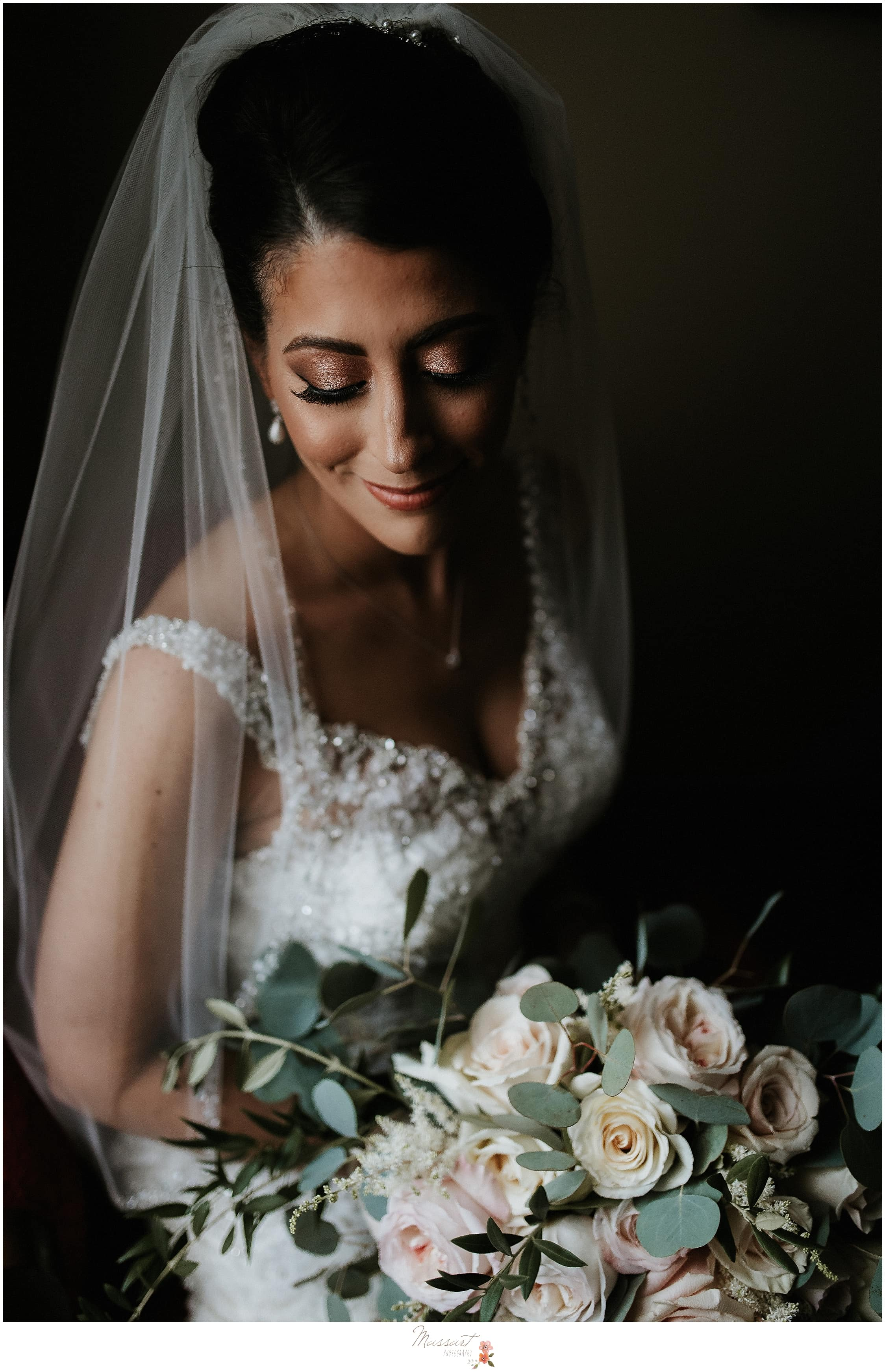 Bridal portrait photographed by MA, CT, RI family and wedding photographers Massart Photography