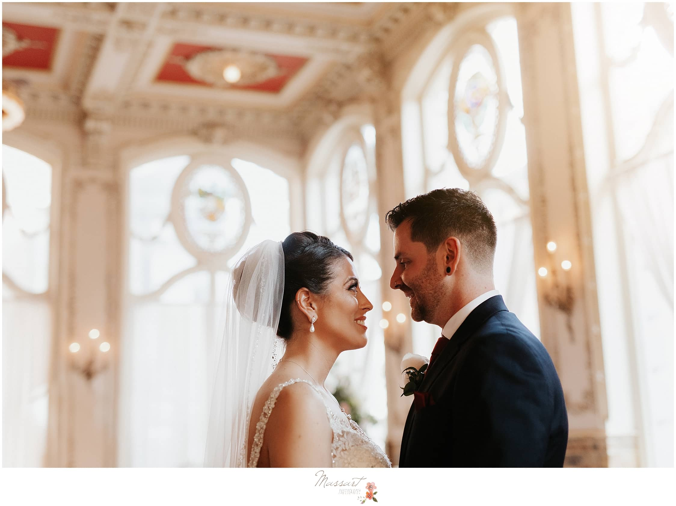 classic wedding portrait at The Dorrance in Providence by Massart Photography