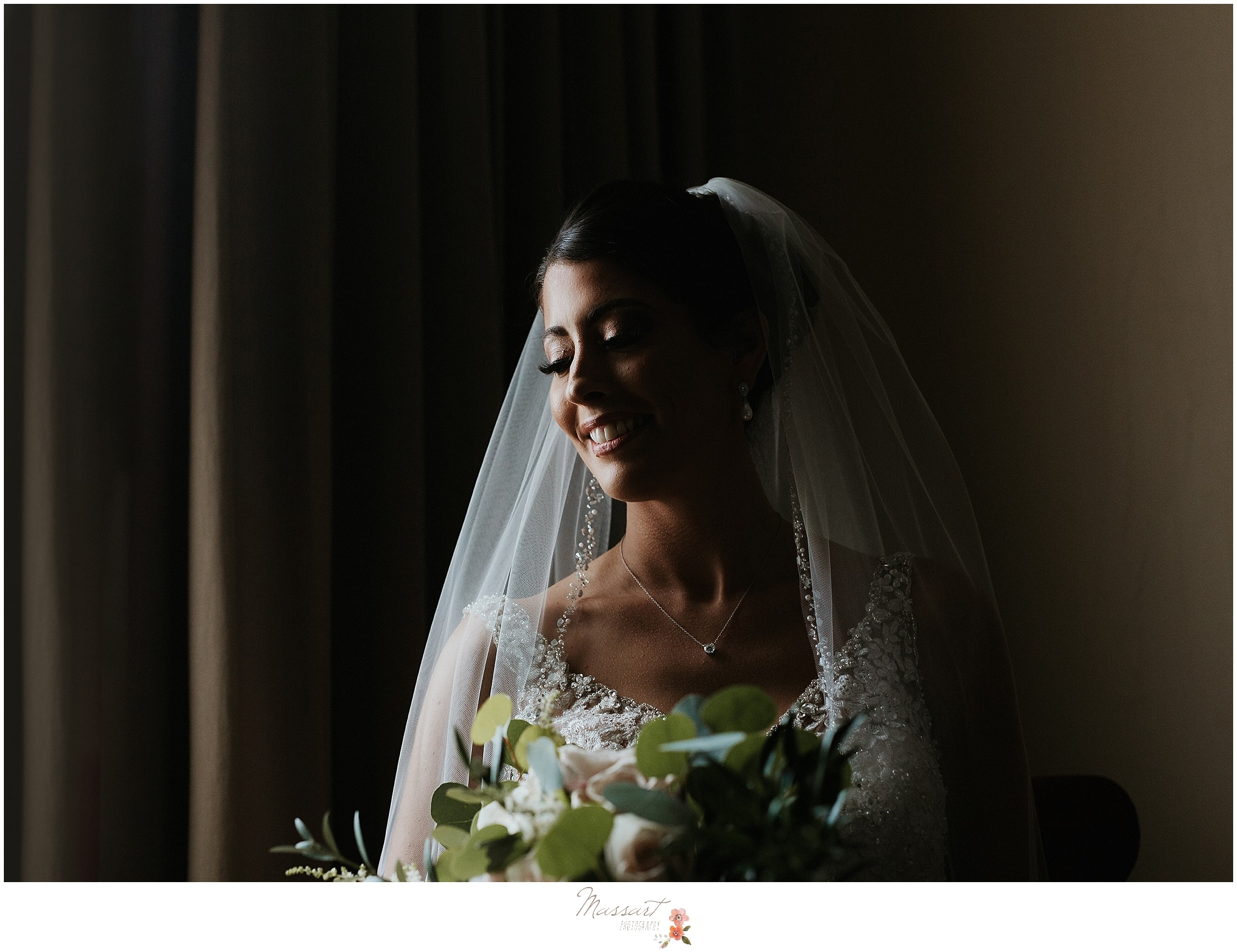 classic bridal portrait at the Hotel Providence by MA, CT, RI wedding photographers Massart Photography