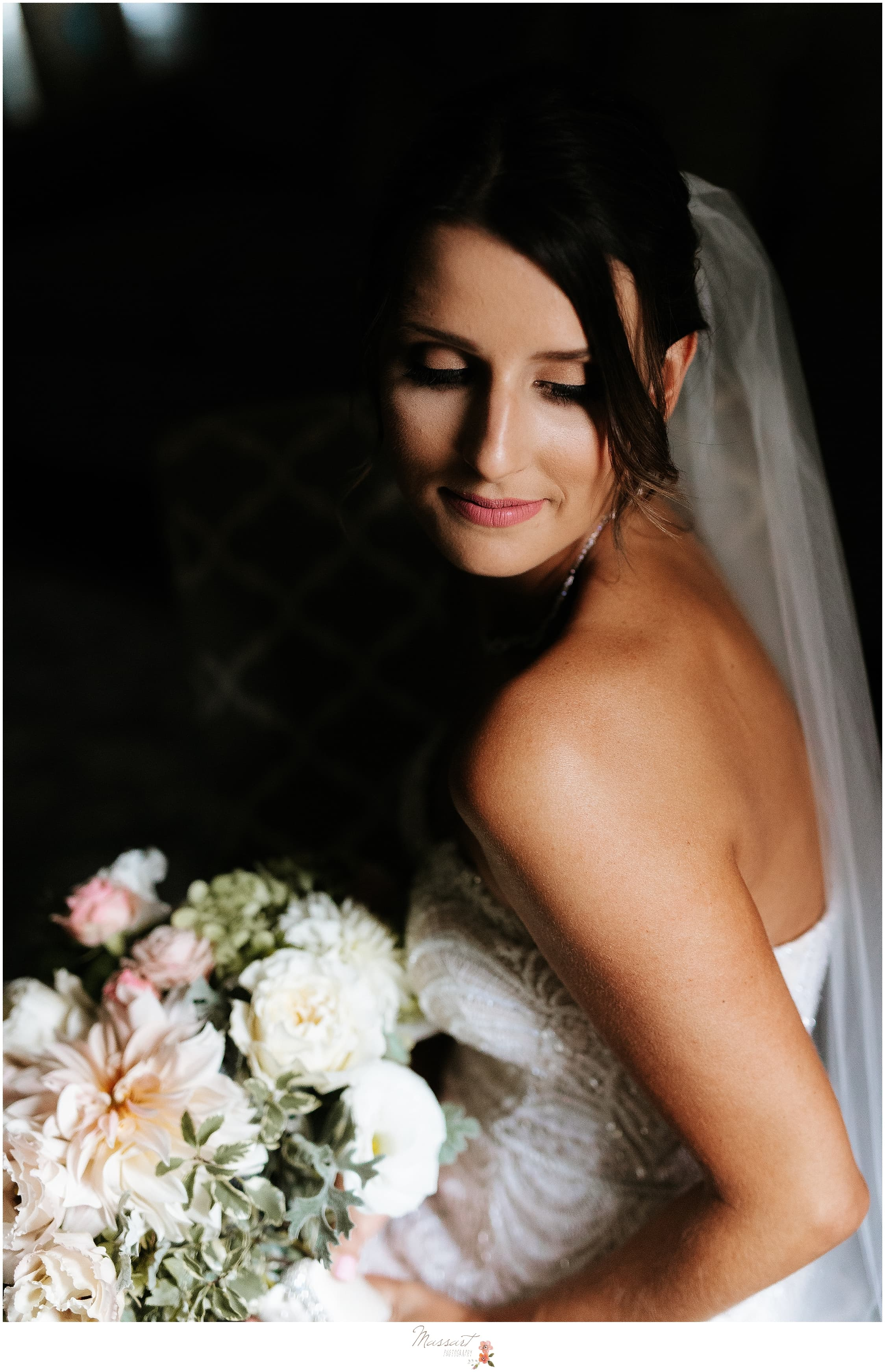Rhode Island wedding photographers Massart Photography photograph gorgeous bride