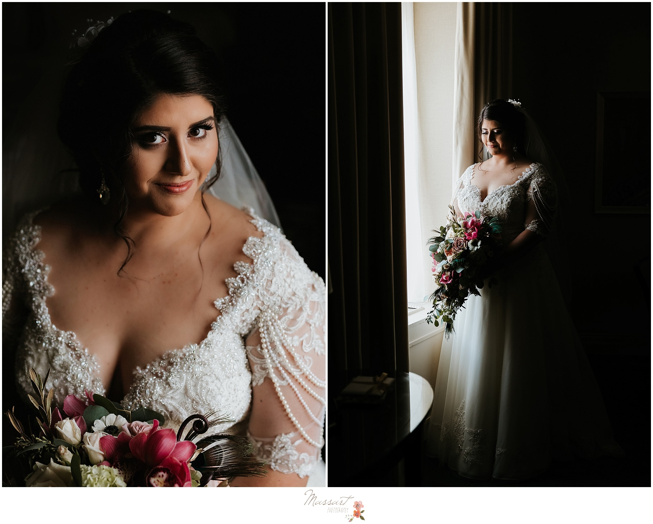 Stunning Greek bride photographed by RI, MA, CT wedding photographers Massart Photography