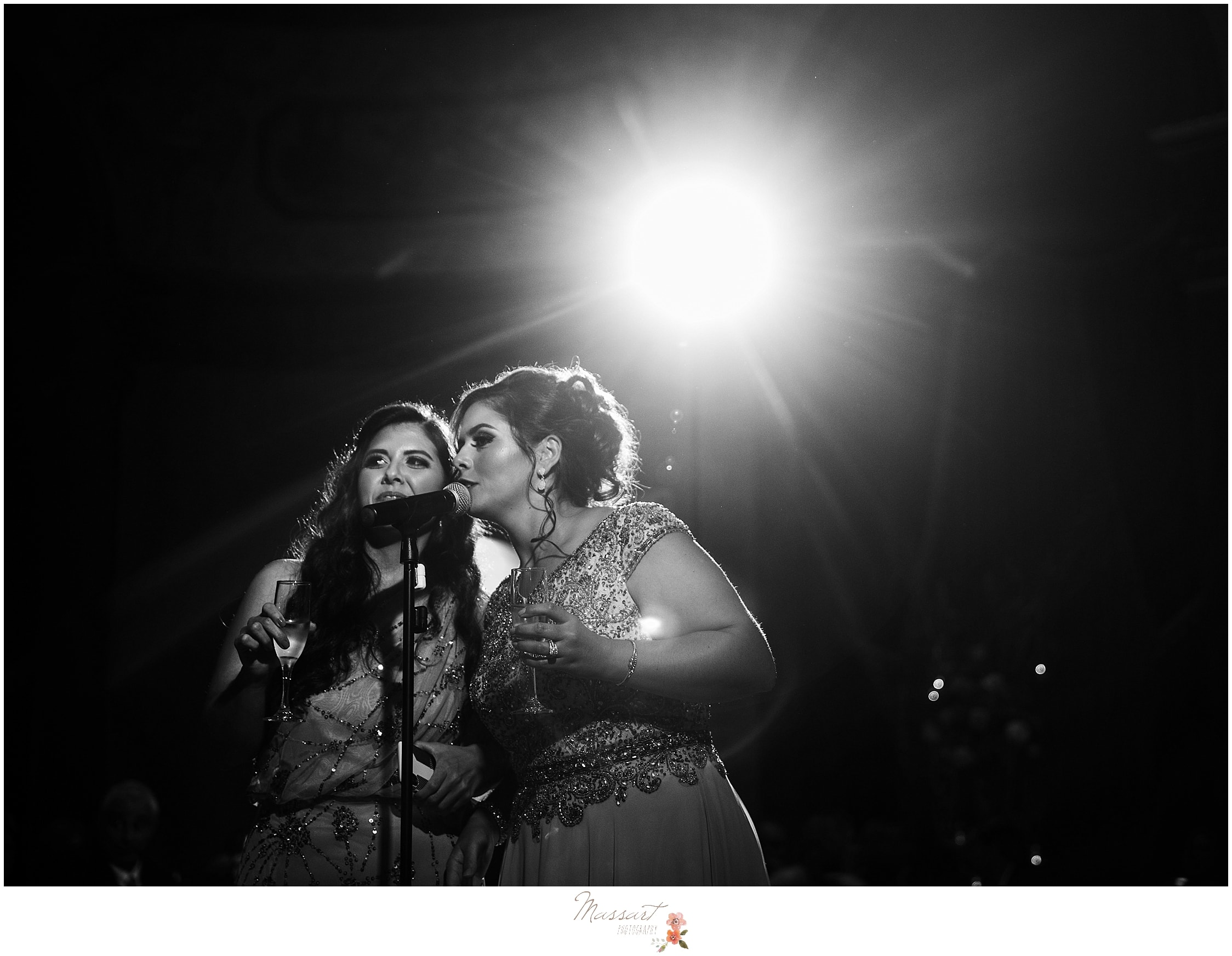 wedding singers perform during wedding reception at the Biltmore photographed by RI, MA, CT wedding photographers Massart Photography