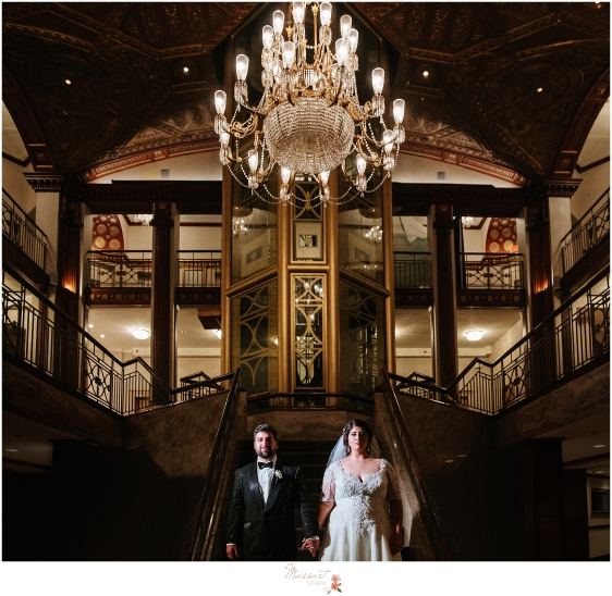 Classic wedding portrait at the Biltmore photographed by RI, MA, CT wedding photographers Massart Photography