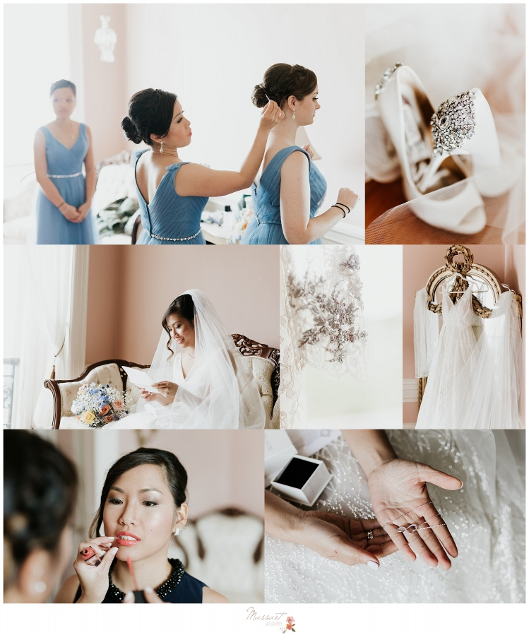 RI, CT, MA wedding photographers Massart Photography capture bride getting ready on wedding day