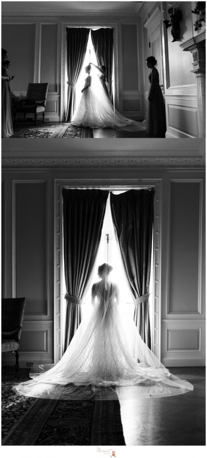Getting ready images of the bride at Aldrich Mansion in Rhode Island captured by Massart Photography