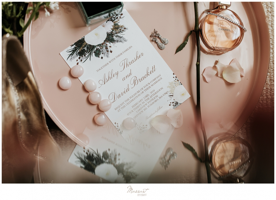 Massart Photography captures beautiful invitation suite for winter wedding