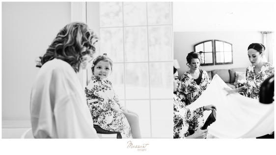 Massart Photography captures bride and flower girl on Foxboro MA wedding day