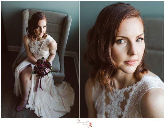 A classic and timeless portrait of the bride by Massart photographers of RI, CT and MA