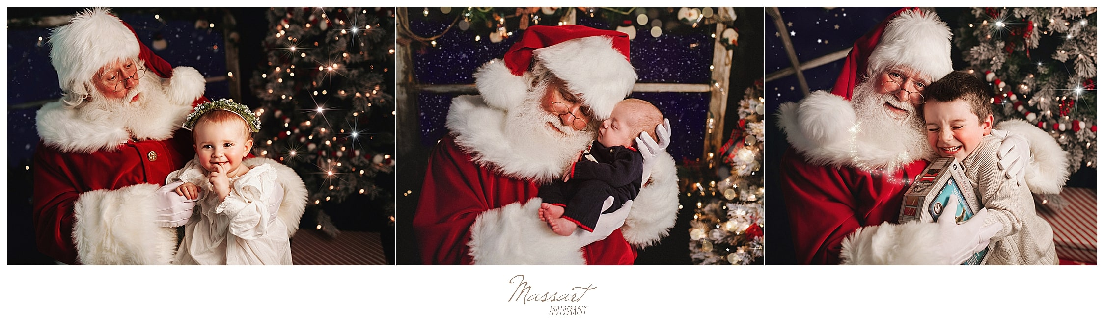 Santa sessions for christmas specials at Massart Photography in Rhode Island
