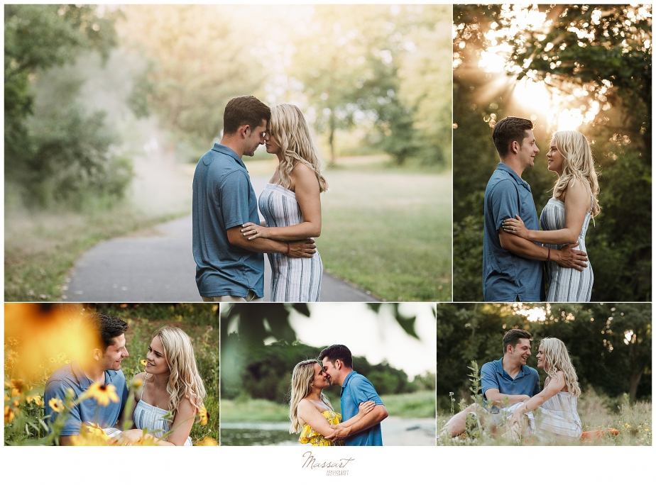 A wedding couple poses for their engagement photos with their photographers from RI, CT and MA
