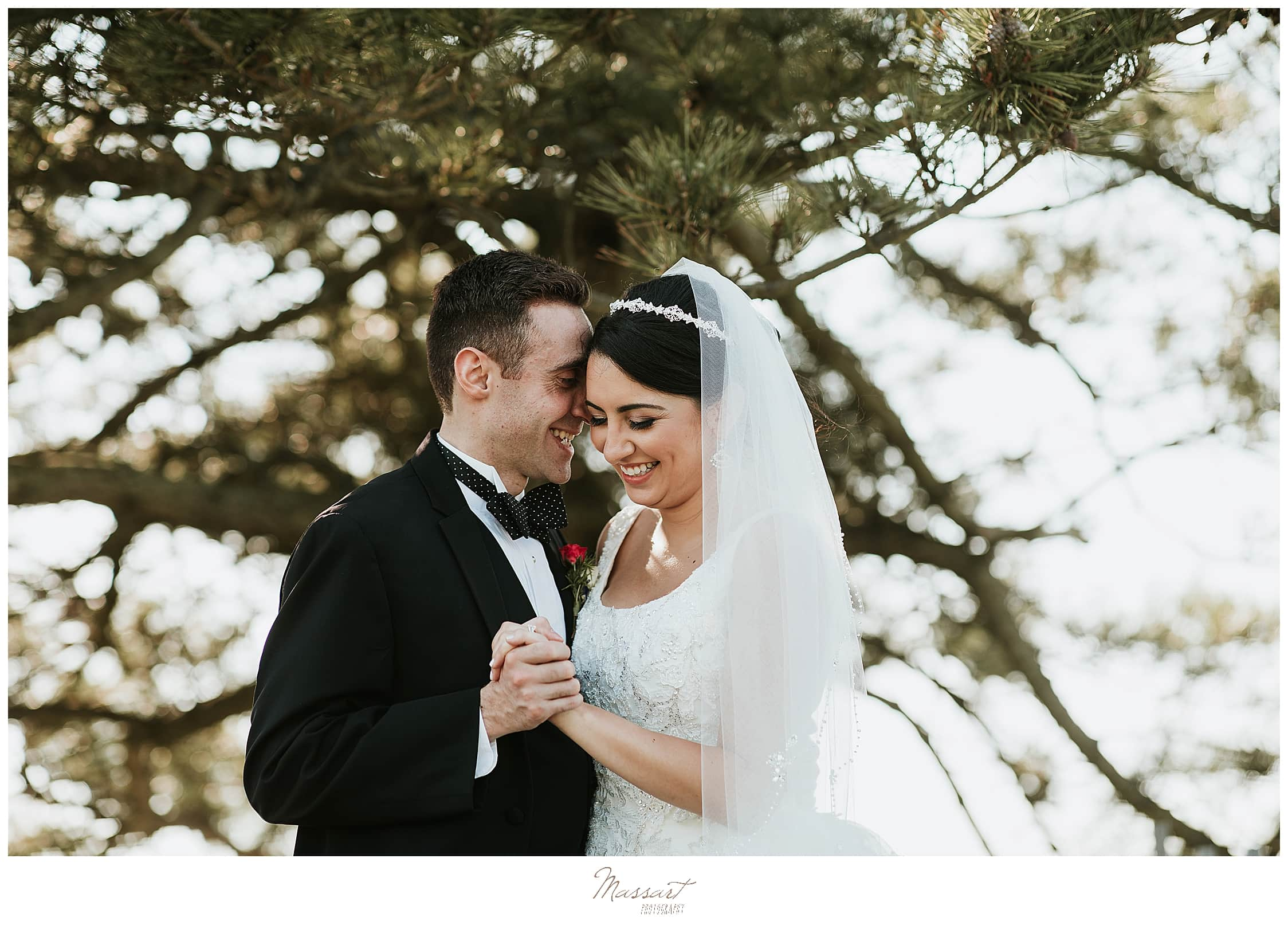 newlywed portraits by RI wedding photographers Massart Photography