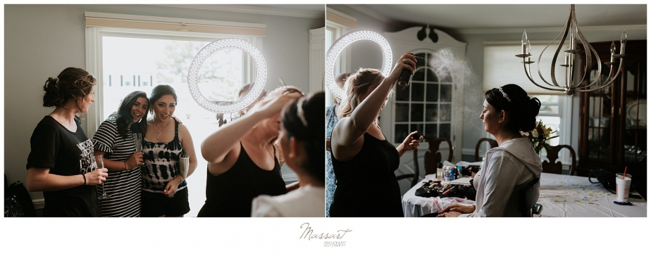 Rhode Island wedding day prep photographed by RI wedding photographers Massart Photography