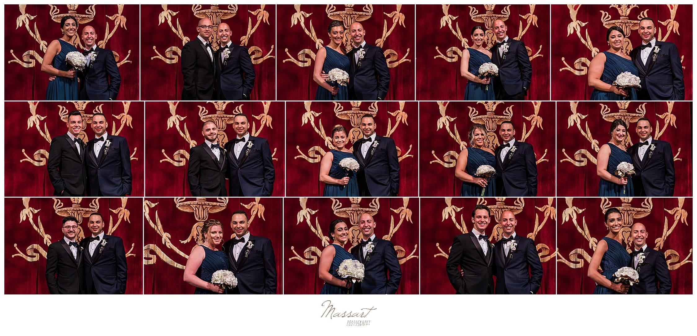 RI, CT, MA wedding photographers Massart Photography capture Palace Theater wedding