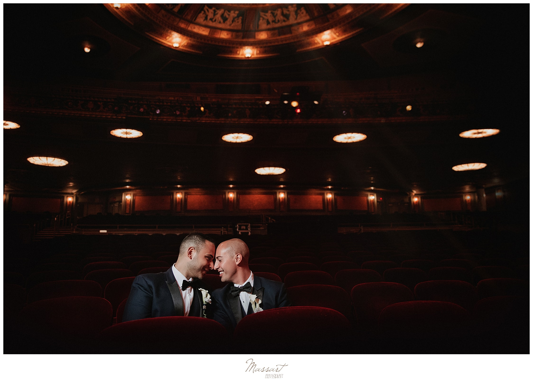 Waterbury CT wedding day at Palace Theater photographed by wedding photographers Massart Photography