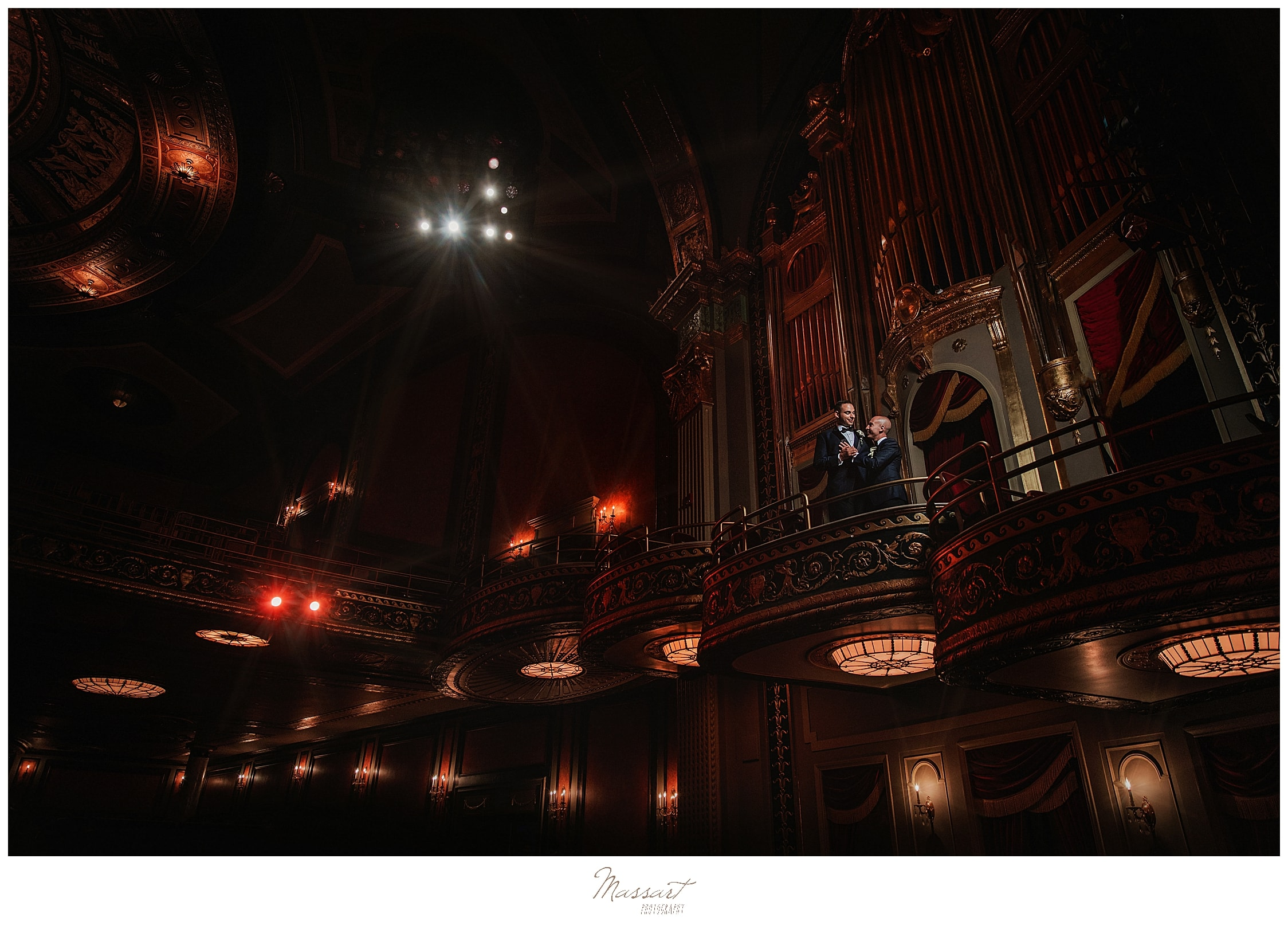 Palace Theater wedding day photographed by CT wedding photographers Massart Photography