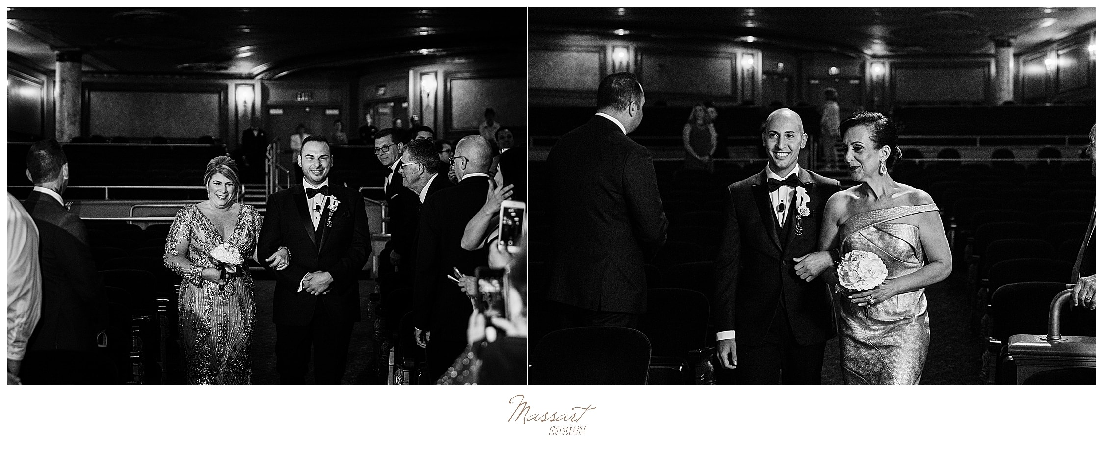 Palace Theater wedding ceremony photographed by CT wedding photographers Massart Photography