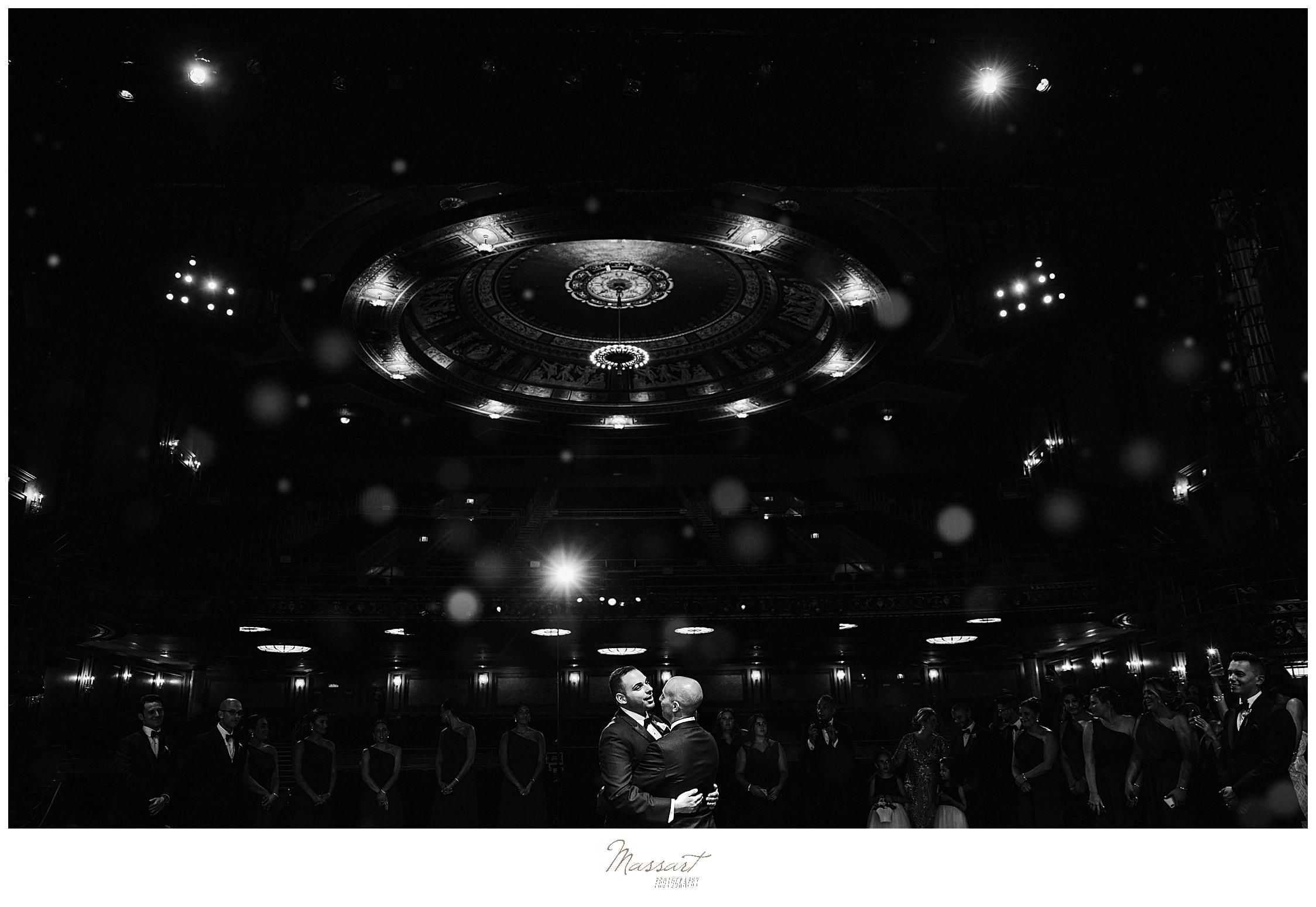 Palace Theater wedding portraits by CT wedding photographers Massart Photography