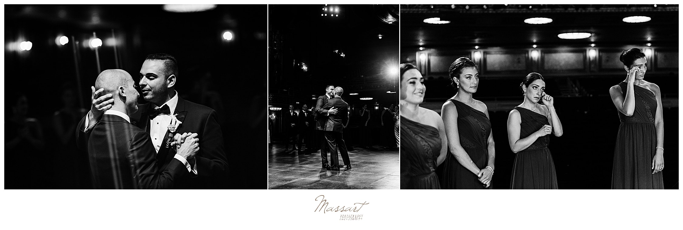 guests watch first dance photographed by wedding photographers Massart Photography