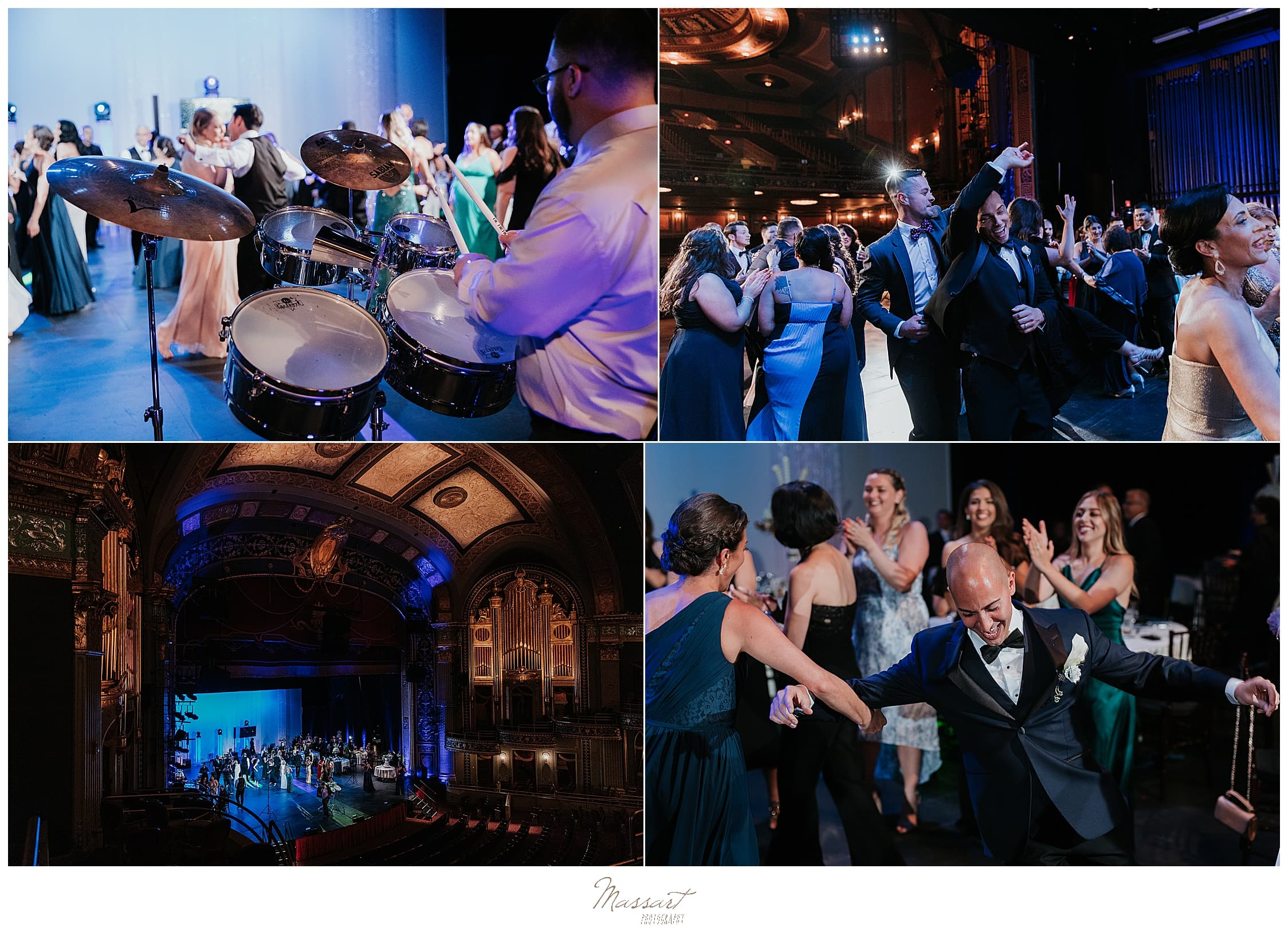 live music at wedding reception photographed by CT