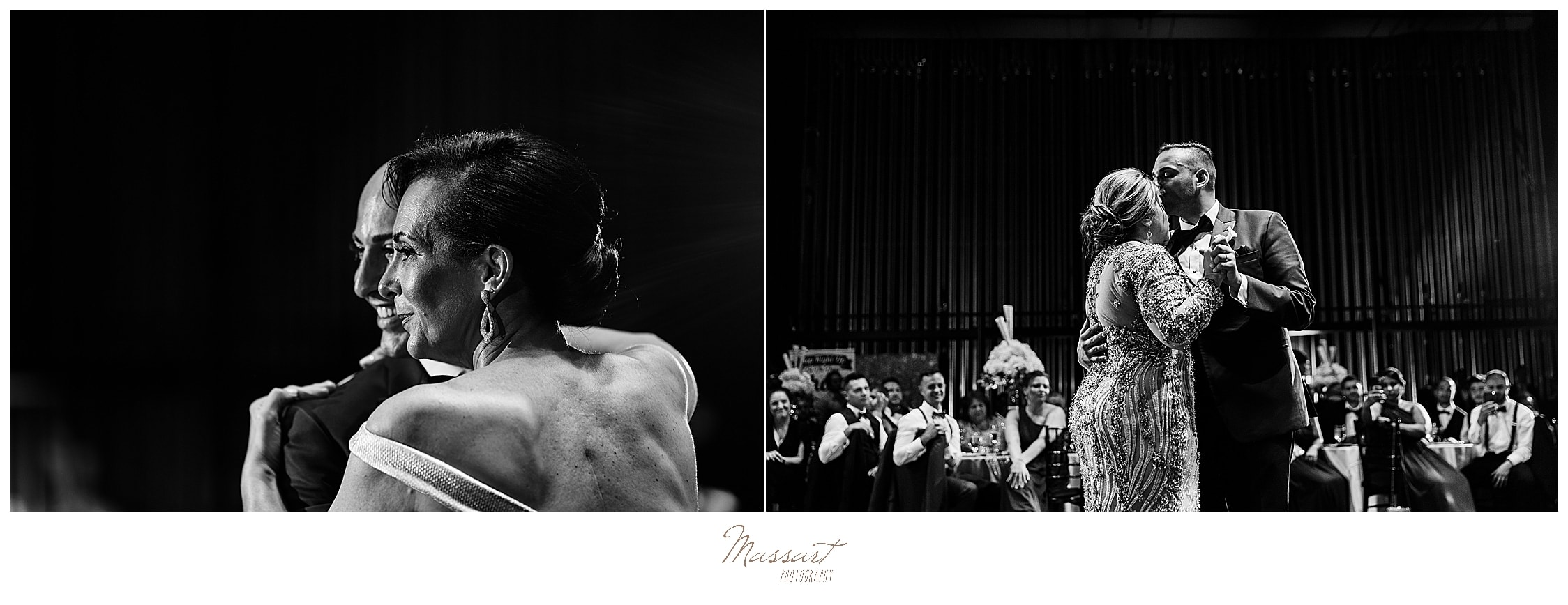 mother-groom dance at CT wedding photographed by wedding photographers Massart Photography
