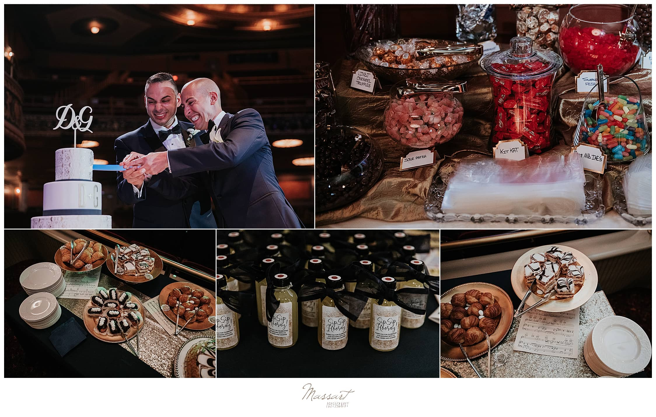 happy wedding reception details photographed by CT wedding photographers Massart Photography