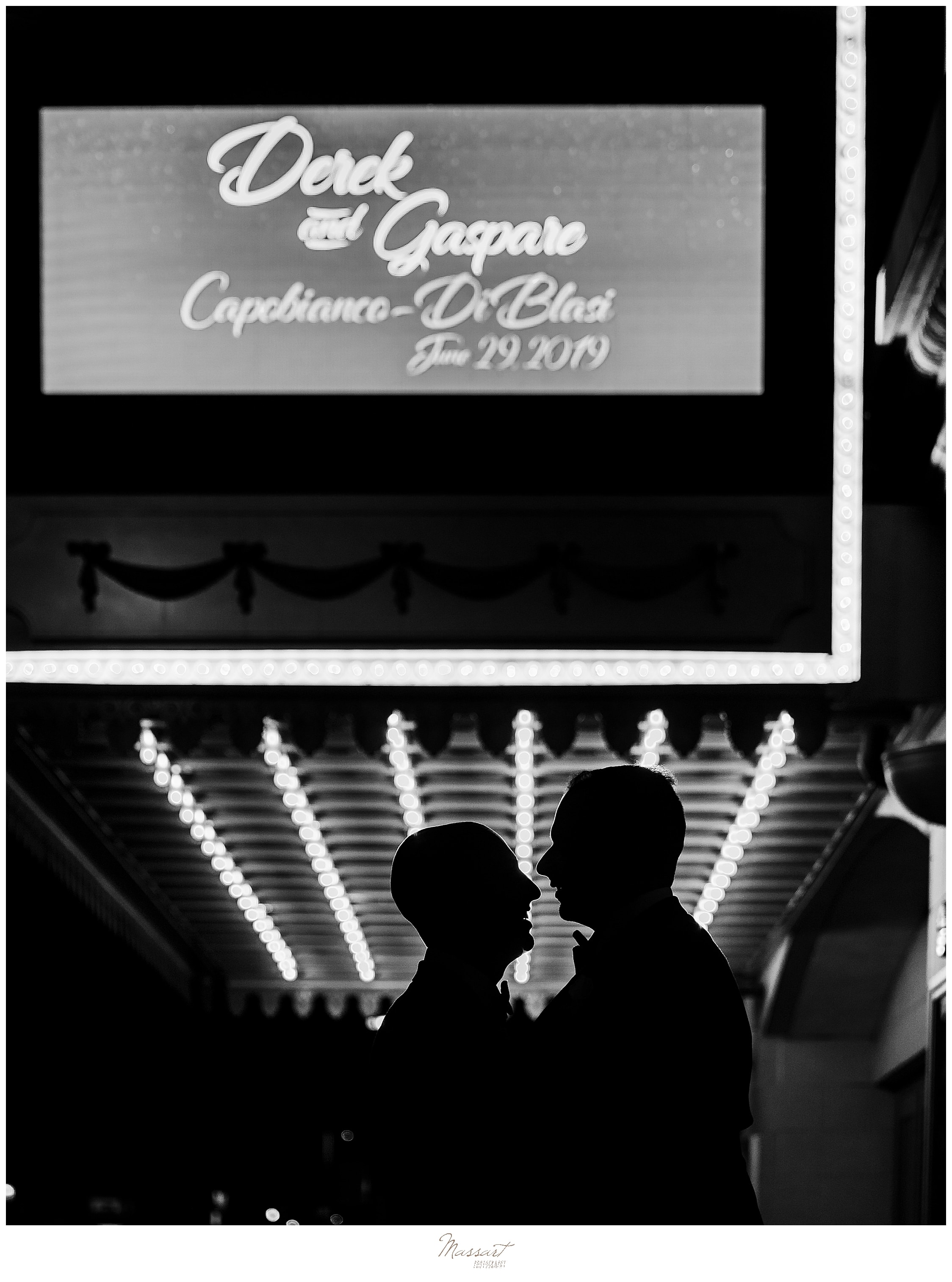 dramatic nighttime wedding portraits in CT with MA, RI, CT wedding photographers Massart Photography