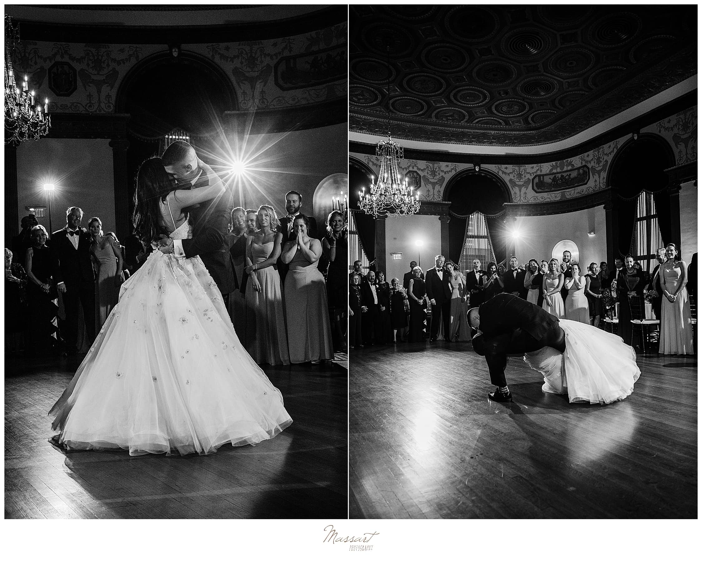 Graduate Providence first dance photographed by wedding photographers Massart Photography