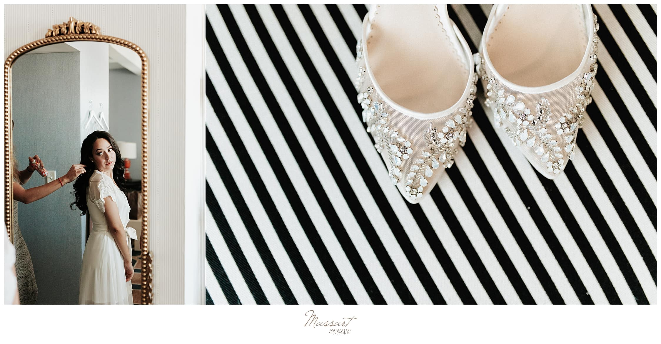 bride's lace shoes photographed by wedding photographers Massart Photography