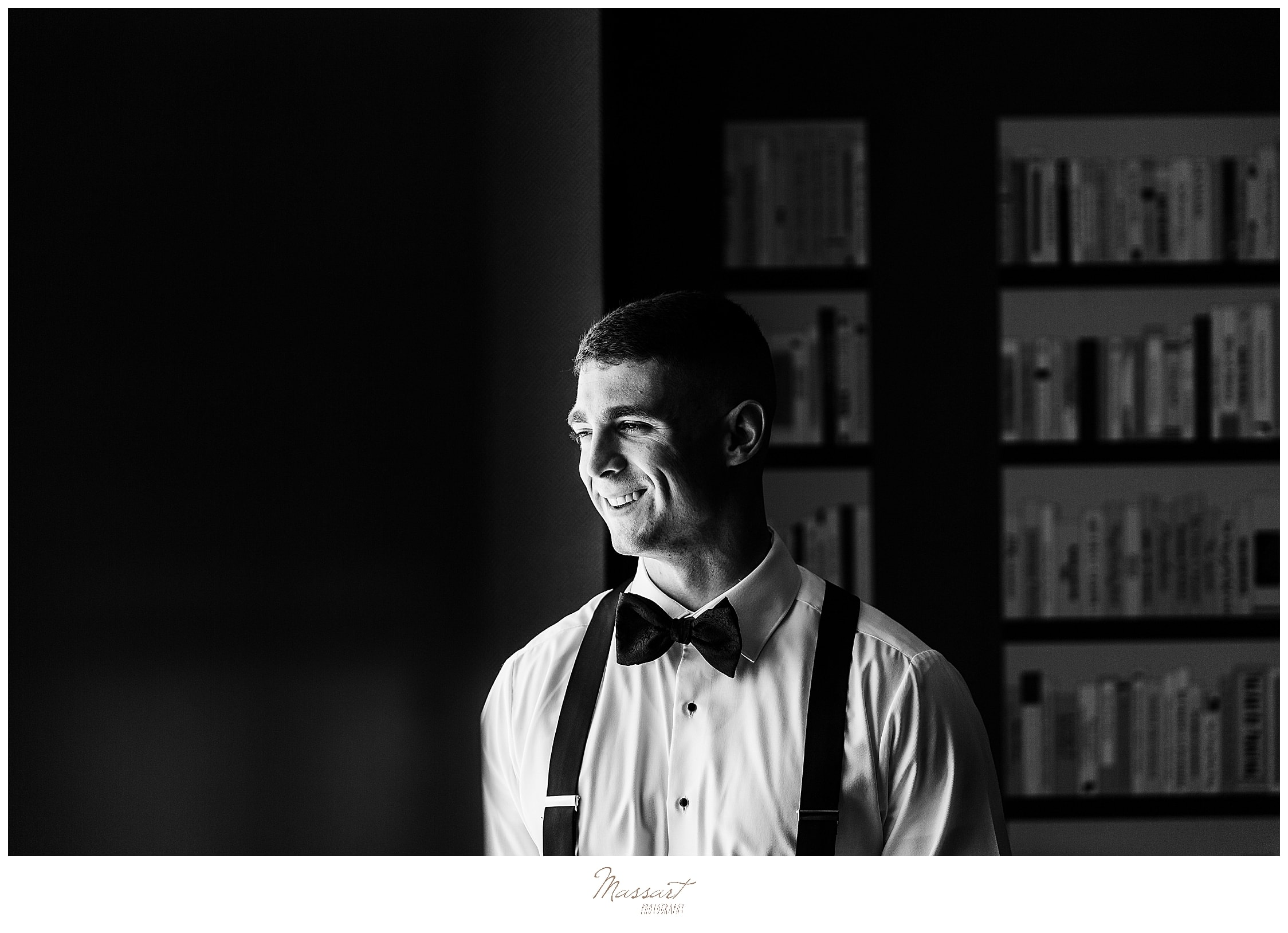 groom preparations in Providence Rhode Island with RI wedding photographers Massart Photography