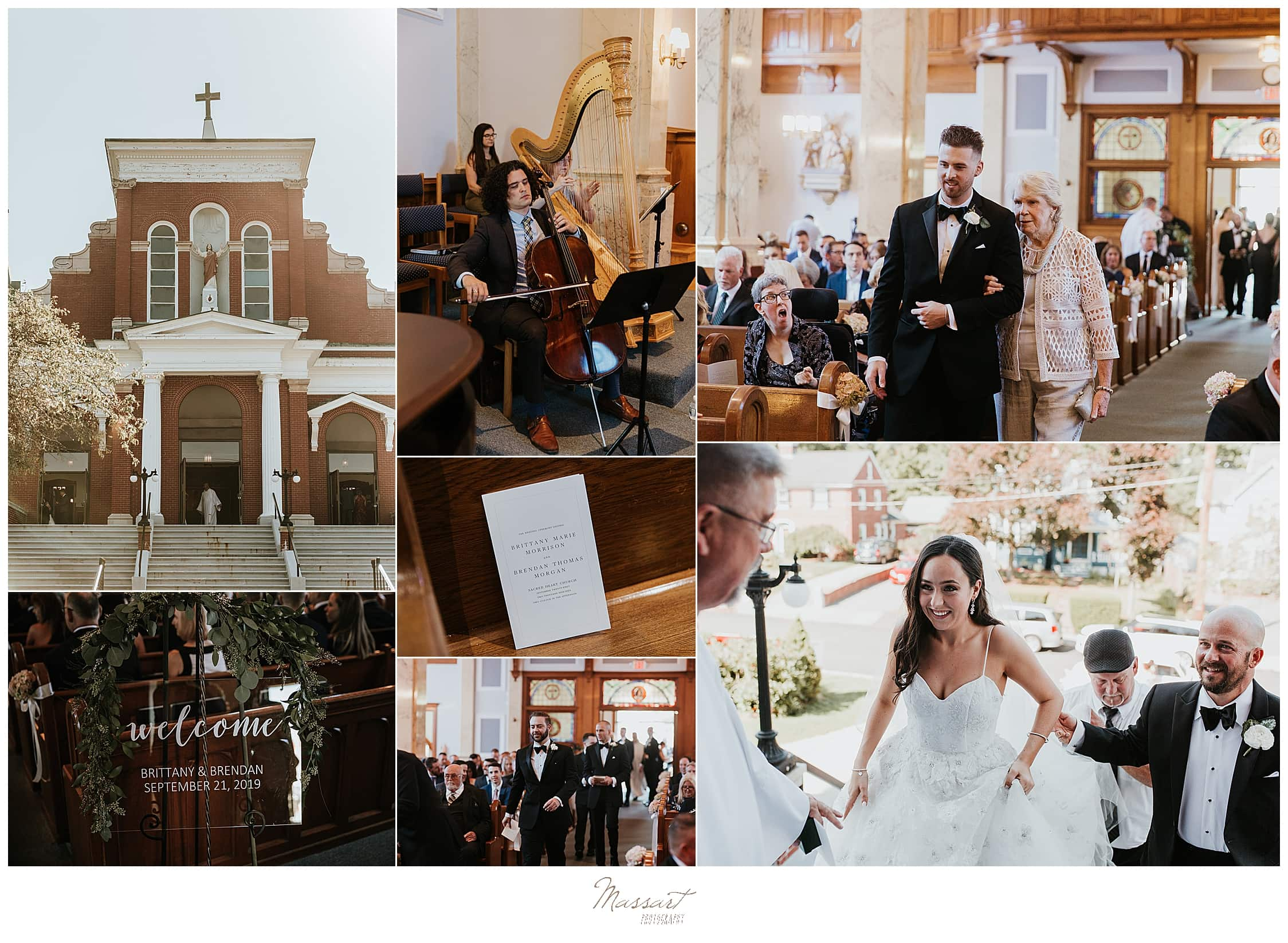 church wedding ceremony photographed by wedding photographers Massart Photography